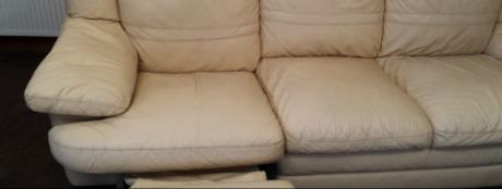 A Huddersfield client's freshly cleaned sofa